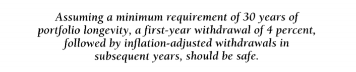Bengen 4% rule from 1994