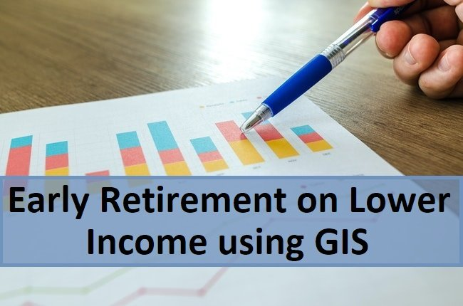 early retirement on lower income using GIS